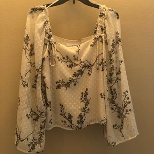 June & Hudson Square Neck Blouse, NWT